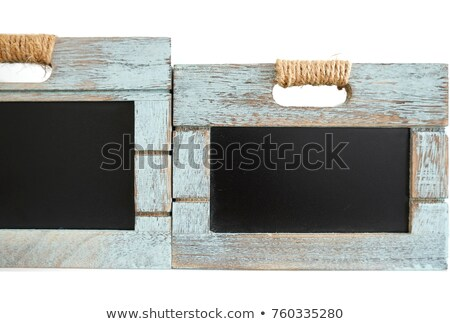 Rustic wooden blue crate with chalkboard blackboard as copyspace for your custom text Stock photo © jaylopez