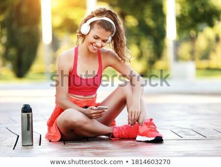 edzés · nővér · mér · bicepsz · jóképű · férfi · épület - stock fotó © milanmarkovic78