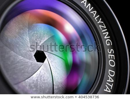 Searching Management on Professional Photo Lens. Closeup. Stock photo © tashatuvango