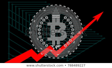 Bitcoin price increase. Dynamics of course is crypto currency. R Stock photo © popaukropa