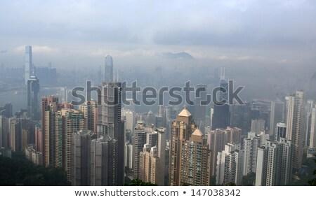 Slechte weer Hong Kong dag gebouw stad glas Stockfoto © cozyta