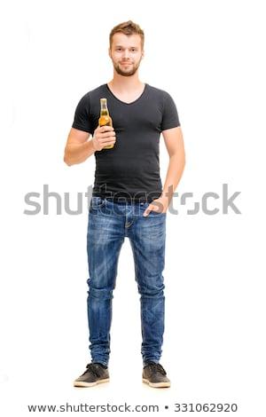 Adam içme güçlü alkol içmek atış Stok fotoğraf © stevanovicigor