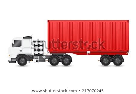 Commerciële container vrachtwagen geïsoleerd icon magazijn Stockfoto © studioworkstock