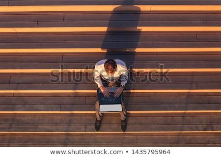 Iş perspektif görüntü işadamı siyah düşünmek Stok fotoğraf © Imabase