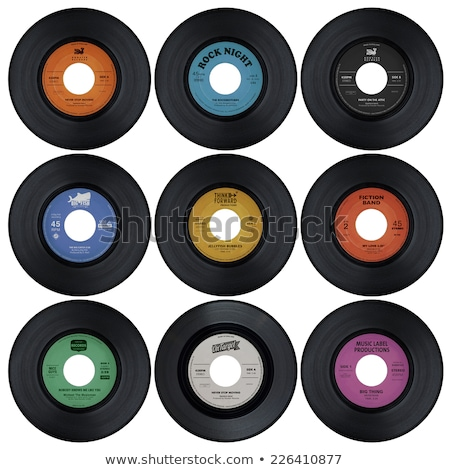 黄色 ビニール レコード 孤立した 白 ディスク ストックフォト © Taigi