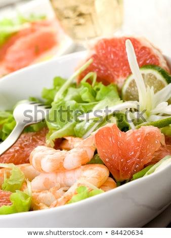 グレープフルーツ サラダ エビ 食品 夏 レストラン ストックフォト © M-studio
