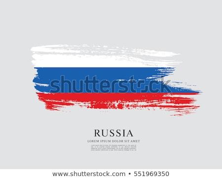 Россия флаг традиционный иконки символ украшение Сток-фото © cienpies