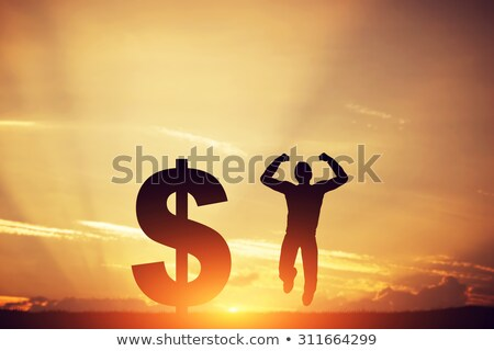 businessman with dollars jump Stock photo © adrenalina