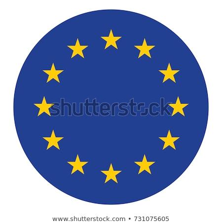 EU Flag Design Icon Stock photo © THP