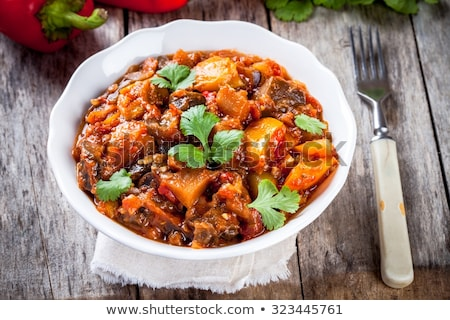 bowl of ratatouille, vegetable stew Stock photo © M-studio