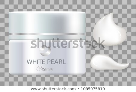 Jar of Day Cream White Pearl for Everyday Skincare Stock photo © robuart