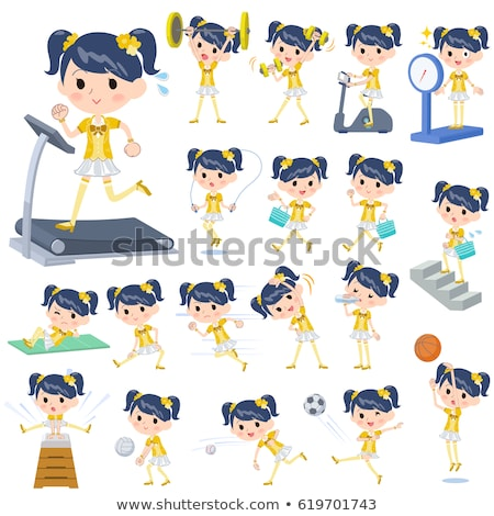 Pop idol in yellow costume Sports & exercise Stock photo © toyotoyo