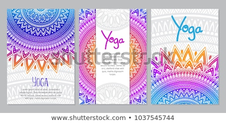 Mandala banners conjunto abstrato asiático Foto stock © SArts
