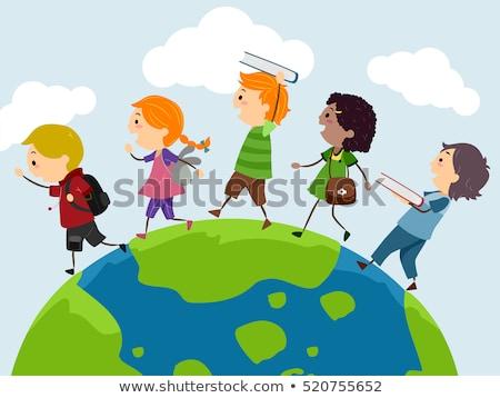 子供 エクスプローラ 地球 実例 衣装 ストックフォト © lenm