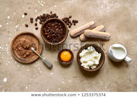 Tiramisu plato alimentos luz chocolate Foto stock © Alex9500