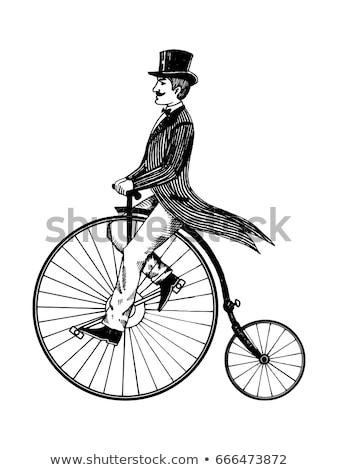 Vintage bicycle with large wheel Stock photo © sharpner