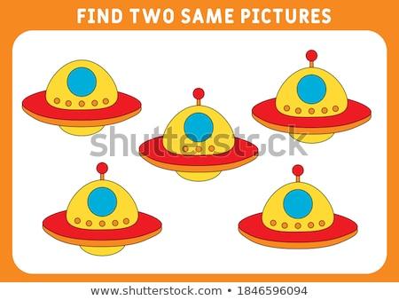 Two designs of spaceships Stock photo © colematt