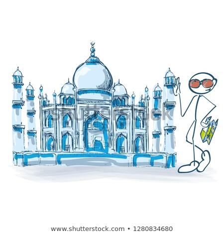 Taj · Mahal · crépuscule · vue · eau · réflexion · ciel - photo stock © ustofre9