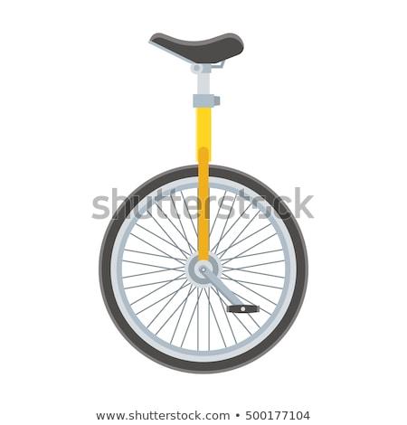 Isolado circo estrada esportes bicicleta diversão Foto stock © MaryValery