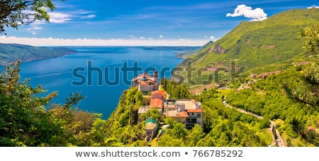vista · agua · paisaje · iglesia · viaje - foto stock © xbrchx