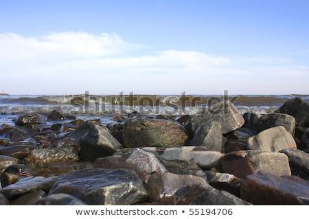 гравий побережье Уругвай Южной Америке пляж океана Сток-фото © Spectral