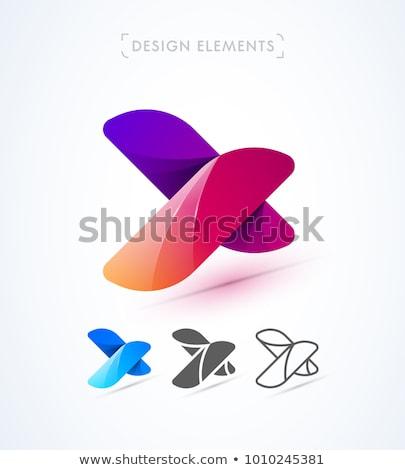 手紙c · ロゴ · アイコン · 緑 · 赤 · ベクトル - ストックフォト © blaskorizov