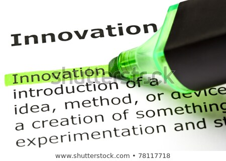 innovation highlighted in green stock photo © ivelin