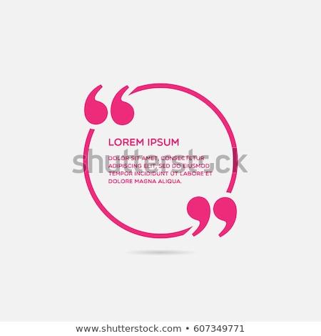 речи текста отмечает пузыря икона Сток-фото © kyryloff