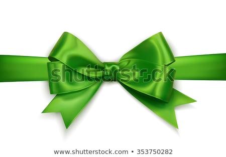 realista · verde · arco · aislado · blanco · elemento - foto stock © olehsvetiukha