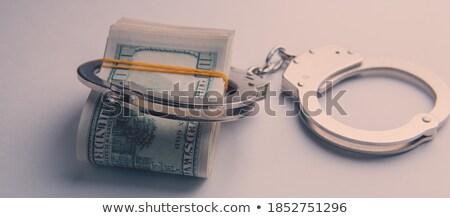 Megbilincselve papír pénz fából készült fa fém Stock fotó © OleksandrO
