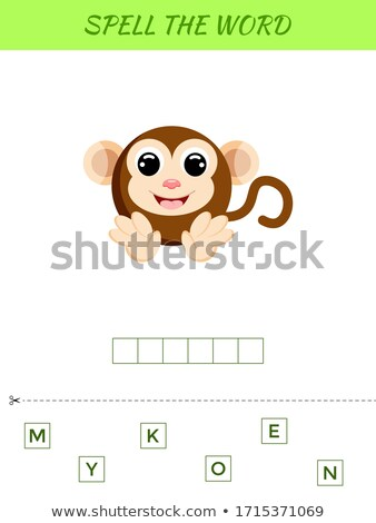 Spelling word scramble game with word monkey Stock photo © colematt