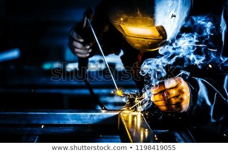 Hegesztő fém maszk szerszám illusztráció férfi Stock fotó © colematt