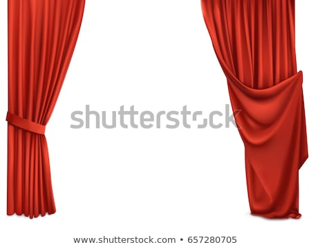 Red curtains in different styles Stock photo © colematt