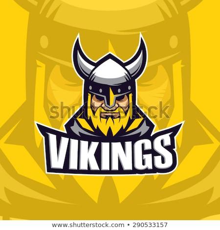 Viking karikatür spor maskot savaşçı gladyatör Stok fotoğraf © Krisdog
