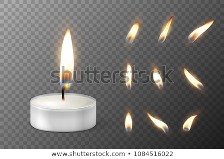 Candles Set Vector. White. Religion, Church Prayer. Transparent Background. Isolated Realistic Illus Stock photo © pikepicture