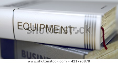 book title of mro equipment 3d render stock photo © tashatuvango
