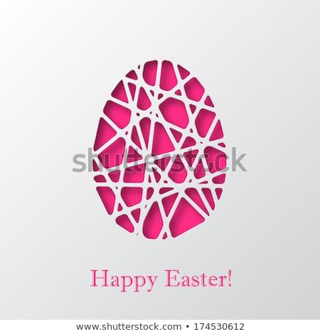 Pâques · carte · 3D · chocolat · lapin · couleur - photo stock © cienpies