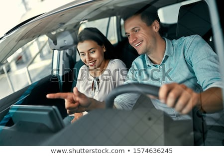 couple driving the car stock photo © kurhan