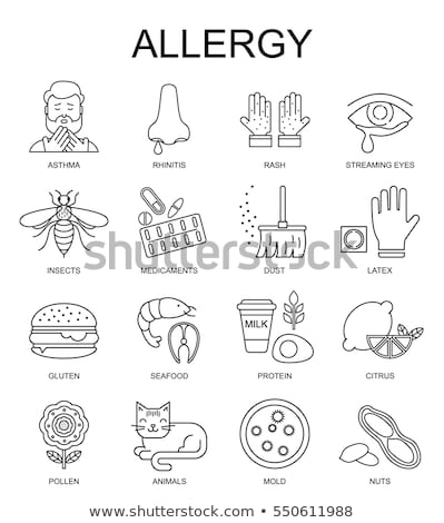 Allergy icon pattern Stock photo © netkov1