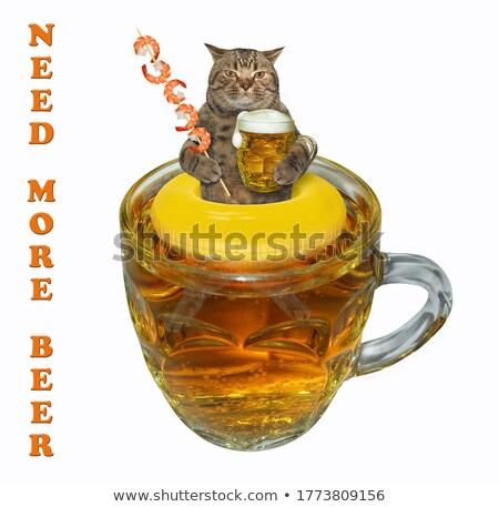 bier · mok · realistisch · vector · partij · goud - stockfoto © colematt
