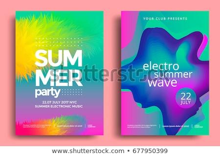 Moderno verão cartaz templates elegante orgânico Foto stock © ivaleksa