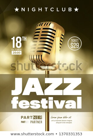 Jazz Improvisation Festival Flyer, Brochure Vector Template Stock photo © pikepicture