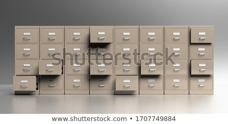 Wall from filing cabinet. 3D illustration Stock photo © ISerg