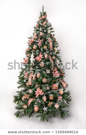 Luxuriously decorated Christmas tree with snow Stock photo © Blue_daemon