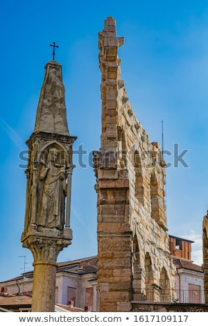virgin mary with baby jesus statue on piazza bra in verona ita stock photo © boggy
