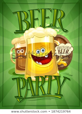 Advertising Beer Festival On Brown Barrel Vector Stock photo © pikepicture