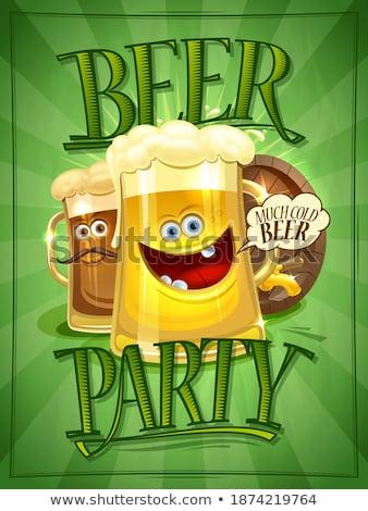 Publicidad cerveza festival marrón barril vector Foto stock © pikepicture
