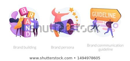 Merk bedrijf geloofwaardigheid klanten loyaliteit Stockfoto © RAStudio
