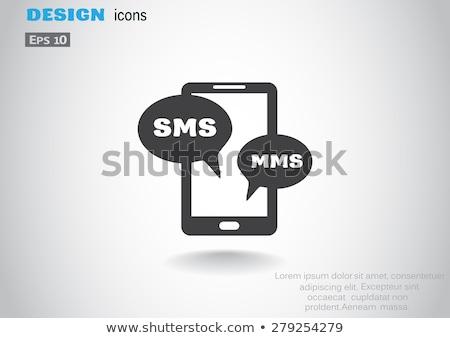 Zellulären Kommunikation sms mms Dienstleistungen Vektor Stock foto © robuart