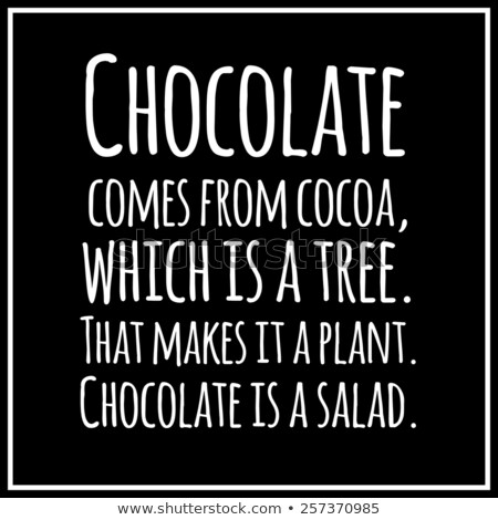 Engraçado citar chocolate dieta vetor projeto Foto stock © balasoiu